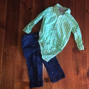Carter's two-piece outfit 24 months boys